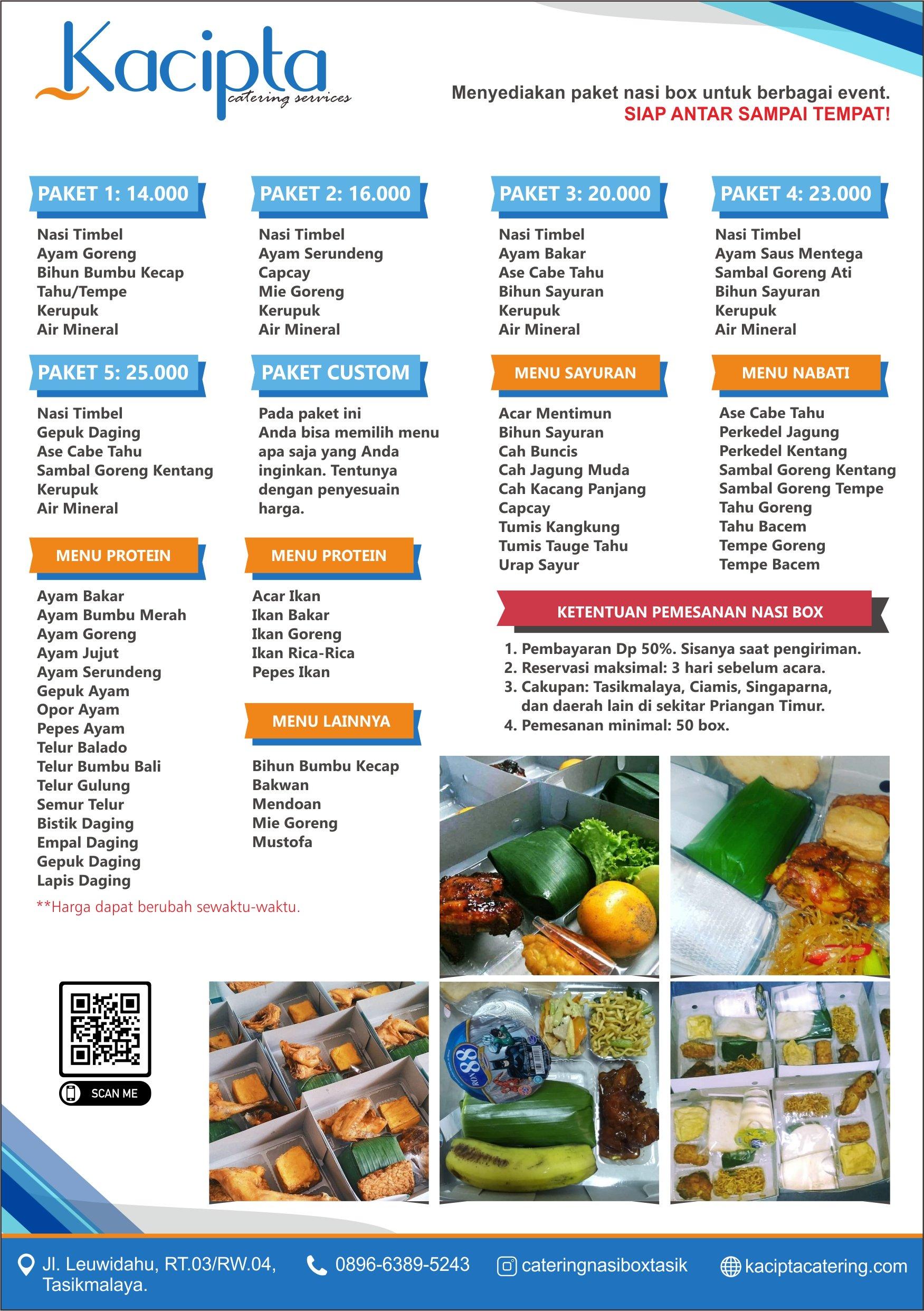 Brosur Catering Nasi Box di Tasikmalaya